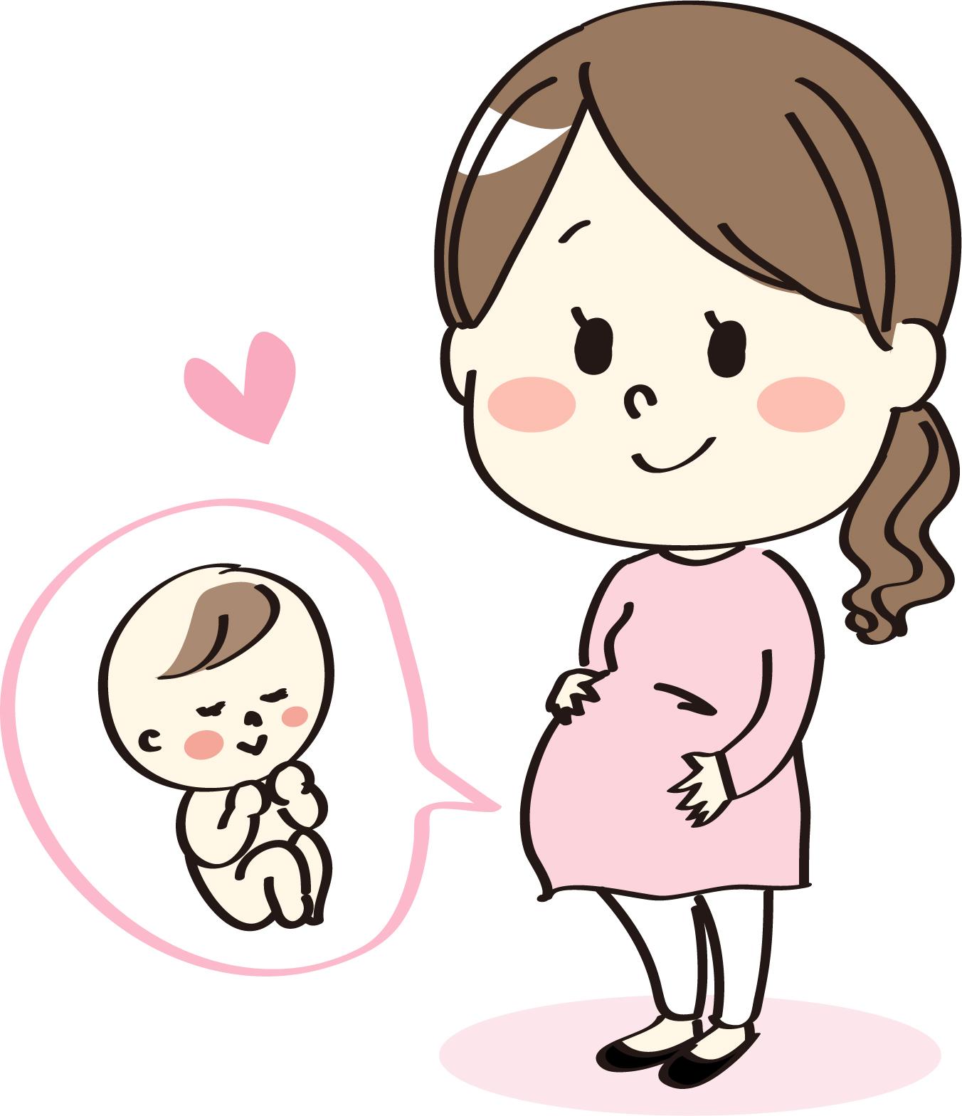 妊婦中のママ